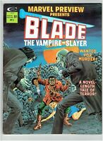 Blade The Vampire-Slayer Marvel Preview Presents #3 Movie Coming 1975