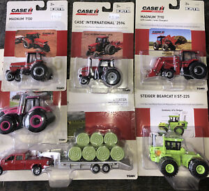 Ertl - Case 1/64 Tractor Set With Dodge Trailer And Bales 14855