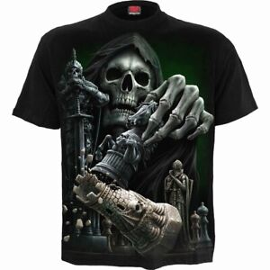 spiral direct checkmate skull chess  gothic mens t shirt short sleeve new