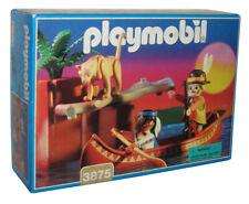 Playmobil Native American Indian & Tracker Toy Figure 3875 w/ Canoe