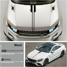 Black Universal Car Hood Decals Vinyl Graphics Stripe Stickers Decoration DIY