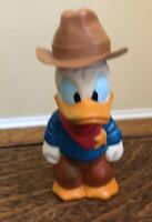 Vintage 1987 Donald Duck Sheriff Tootsie Toy  Bubble Container Walt Disney