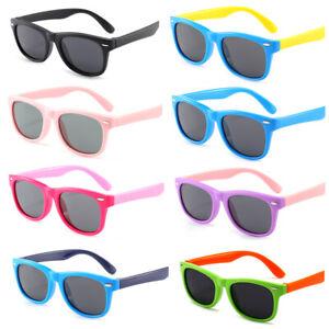 Rubber Flexible Kids Mirrored Polarised Sunglasses Boys Sun Glasses Age 3-14