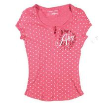 NWT AEROPOSTALE PINK KNIT TOP SHIRT SIZE SMALL rose polka dot FREE SHIPPING
