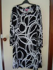 Quality Sue AS NEW!!GORGEOUS EMME/MY SIZE l/sl TUNIC/DRESS Plus size XL/26/28/30