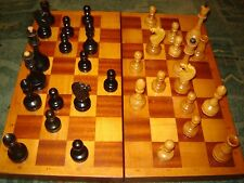 CHESS SET Rare Vintage soviet wooden in Wooden box from USSR (1980-th)