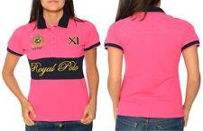 Figurbetonte Damenblusen, - tops & -shirts mit Polokragen aus Baumwolle
