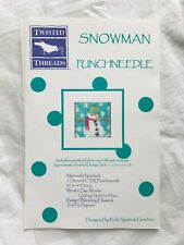 Twisted Threads Punchneedle Snowman Pattern w/Fabric - Winter Christmas