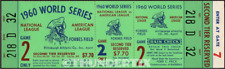 5 1960 WORLD SERIES FULL VINTAGE TICKETS PITTSBURGH PIRATES EPHEMERA great set!