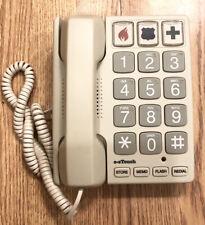 Cortelco ezTouch Sandstone Big-button Feature Corded Phone Sandstone