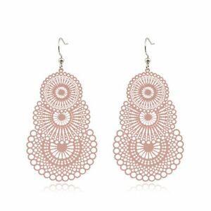 Boho Ethnic Drop Dangle Women Fashion Ear Hook Golden Leaf Earrings Jewelry Gift
