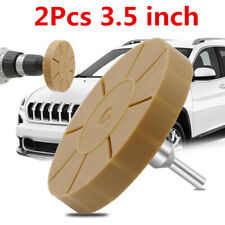 2Pcs Rubber Eraser Wheel 3.5in For Car Adhesive Pinstripe Sticker Glue Removal