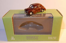 MICRO NOREV HO 1/86 1/87 RENAULT 4CV 4 CV ROUGE FONCE GRENAT in box