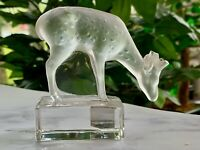 Lalique Deer Fawn Figurine Mint Condition Guaranteed Authentic