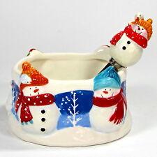 St. Nicholas Square SNOW DAYS 12oz Dip Bowl & Spreader Set 2Pc Snowman Blue MIB
