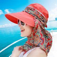 Women Beach Korean Style Hat Matching Fashion Summer Sun Visor Brim Straw Cap