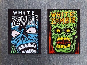 White Zombie patch sew on printed textile patch hard rock heavy groove metal