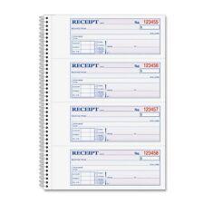 Adams Wire Bound Money/rent Receipt Books - 200 Sheet[s] - Spiral Bound (sc1182)