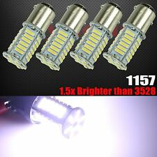 4x 1157 High Power New 7014 LED Chip 8000K Cool White Turn Signal Light Bulbs