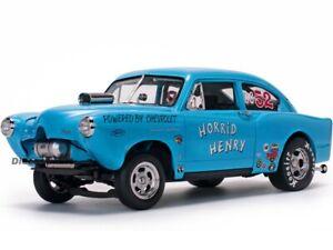 """1951 KAISER HENRY J GASSER BLUE """"HORRID HENRY"""" 1:18 DIECAST MODEL SUNSTAR 5107"""