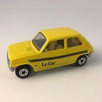 Matchbox Superfast Renault 5 TL #21 Diecast Yellow England 1978