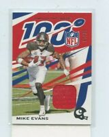 MIKE EVANS 2019 Panini Chronicles100 Jersey Relic #D /99 Tampa Bay Bucs