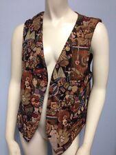 Karen Scott Toys In The Attic Vest Size M Medium Brown Dolls Teddy Bears Basebal