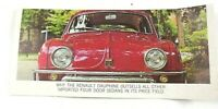 Renault Dauphine Sales Brochure Flyer Made In France Imported Early 1960s