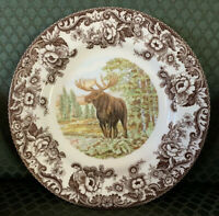 NEW Spode Made in England Woodland Majestic Moose Dinner Plates