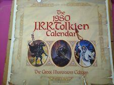 Rare.Jrr Tolkien 1980 Calendar Used Condition