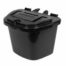 Black Vented Kitchen Compost Caddy Bin - Food Recycling (5 Litre) 5L