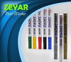 Zeyar Permanent Waterproof Paint Marker Silver Or Gold Round Fine Point  ZP1101