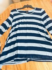 LADIES MATERNITY TOP BLUE STRIPED STRIPES  SIZE XL NEW
