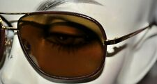 NEW brown leather  Chanel Aviator Sunglasses 4162Q glasses no tags
