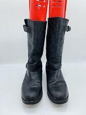 Coach Women's Virginia Calf  Biker Boot Boots Black Size US 11M
