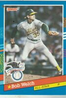 FREE SHIPPING-MINT-1991 Donruss #54 All-Stars Bob Welch Athletics + BONUS CARDS