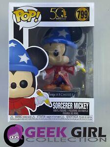 Funko Pop - Disney 799 - Mickey 50 Years Archives - Sorcerer Mickey - Mint