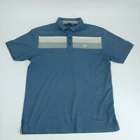 Travis Mathew Mens Short Sleeve Golf Polo Shirt Blue Large