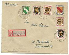 Saar R-Brief Not-R-Zettel SAARBRÜCKEN 6 1947 nach Saarbrücken