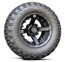 "(4) Fairway Alloys 12"" Battle Golf Cart Car Rim Wheel & 23-9.5-12 Hammer Tires"