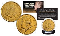 2017 DONALD TRUMP OFFICIAL Inauguration 24K Gold Plated 12 GRAMS Tribute Coin