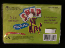 Learning Resources Snap It Up! Multiplication Math Card Game Brand New Sealed