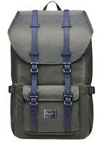 """KAUKKO Men Women Waterproof Travel Rucksack 15.6"""" Laptop Backpack School Bag"""