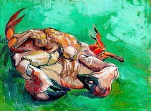 A Crab on its Back by Vincent van Gogh A1+ Impressionist Art Print Wall Art