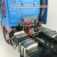 Für 1/14 RC Tamiya 3363 Metall Schweiß Cab Verbindungs Druckrohrdraht mit Halter