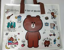 Authentic Brand New Line Friends Brown 40cm(16in)*50cm(20in) Picnic Bag w Zip