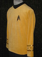 CUSTOM-MADE Gold Five Star TREK CLOTHES Uniform COSTUME Men's Shirts