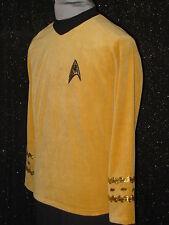 CUSTOM-MADE Gold Five Star TREK CLOTHES Uniform COSTUME Men's Shirts