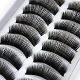 20 pares negro largo hecho a mano voluminoso falsas pestañas pestañas