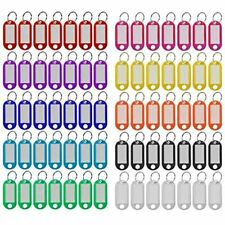 Plastic Key Tags 220 Pcs 10 Colors With Split Ring Label Window Id For Name